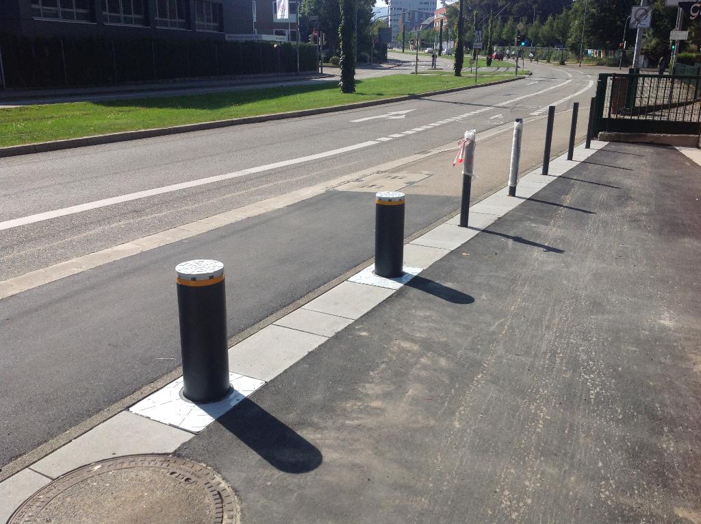 Absenkbarer Automatik-Hydraulik-Verkehrspoller, Schutzklasse J